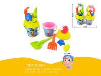 Набор игрушек для песка в ведерке, 7 ед, H30cm