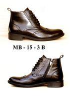 Мужские Ботинки из натуральной кожи на натуральном меху MB-15-3-B