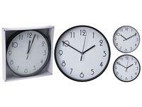 Часы настенные круглые D20cm, цвет черный/белый