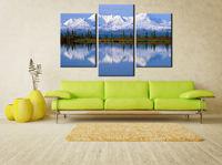 Картина напечатанная на холсте - Картина Триптих Природа 0003 / Печать на холсте