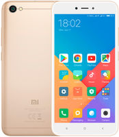 "5.5"" Xiaomi RedMi Note 5A 16GB Gold 2GB RAM, Qualcomm Snapdragon 425 Quad-core 1.4GHz, Adreno 308, DualSIM, 5.5"" 720x1280 IPS 236ppi, microSD, 13MP/5MP, LED flash, 3080mAh, FM-radio, WiFi-AC, BT4.2, LTE, Android 7.0 (MIUI9), Infrared port"