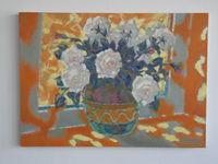 Натюрморт с розами, 50x70 см, холст, масло