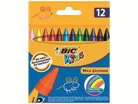 Set creioane de ceara 12buc BIC WAX Crayons