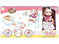 Кукла со стуломи, кроваткой и ходунками (ягода), 55.5X32X0cm