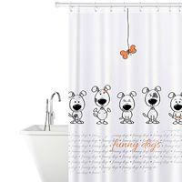 """Tatkraft """"DOGS"""" штора для ванной, с кольцами, 180 х 180 см 17511"""