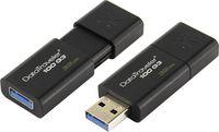 cumpără Kingston DataTraveler 100 Generation 3 (G3) 32GB Black, USB 3.0, Retractable USB connector în Chișinău