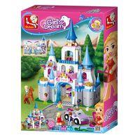 КОНСТРУКТОР GIRL IS DREAM Sapphire Castle - САПФИРОВЫЙ ЗАМОК 818pcs