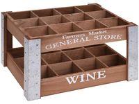 Ящик Wine на 12 бутылок 35X26.5X18cm, дерево, натуральный