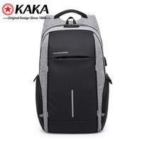 Рюкзак KAKA 2215 c отделением для ноутбука 15.6'', с USB портом,водонепроницаемый, cерый