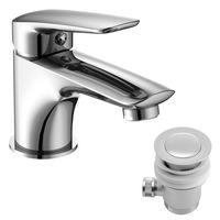 PRAHA new смеситель для умывальника с донным клапаном, хром, 35 мм (ванная комната)