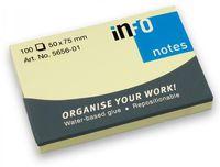 Info Notes Бумага клейкая INFO 100x75мм, 100 листов,  желтая