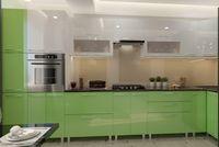 Bucătărie Bafimob Corner (High Gloss) 4.1x0.9m Eco +ball closer Green/White