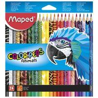 Карандаши цветные MAPED Animals, 24 цветов