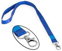 Luromax Шнурок с карабином LUROMAX для бейджа атлас синий