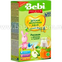 Bebi Каша рисовая молочная Premium с яблоком и тыквой 200 гр. (6+)