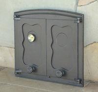 Дверца чугунная глухая двустворчатая с термометром Halmat - BATUMI II