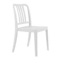 купить Стул пластиковый с спинкой из вертикальной решетки, белый в Кишинёве
