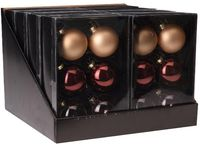 купить Набор шаров 6X65mm, 2зол.мат, 2св-роз.прозр, 2корич.глянц, в в Кишинёве