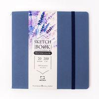 Sketchbook Malevich pentru acuarela Waterfall Natura, textura fina,albastru, 200 gm, 19x19, 20 foi