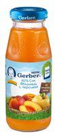 Gerber cок яблочный с персиком 175мл.(5+)