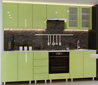 Bucătărie Bafimob Iulia (High Gloss) 2.6m Green