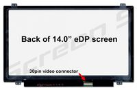 "Display 14.0"" LED Slim 30 pins HD+ (1600x900) Brackets Up-Down Matte B140RTN03.0 N140FGE-EA2"