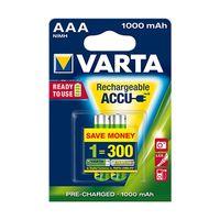 Аккумуляторы Varta AAA Rechargeable ACCU 2 pcs/blist 1000 mAh NiMH, 05703 301 402