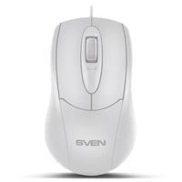 SVEN RX-110, Optical Mouse, 1000 dpi, USB, White