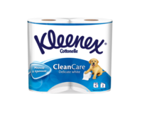 Туалетная бумага Kleenex Delicate White, 4 рулонов, двухслойная