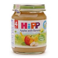 Hipp пюре яблоки и банан 4+мес. 125г