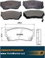 NISSAN Колодки передние SUNNY III (N14) 1.4 1,6