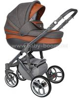 Baby Merc Коляска 2-в-1 Faster 3  FIII/100A коричневый/графит