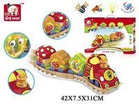 Huile Toys Набор поезд с музыкой и светом