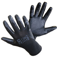Перчатки покрыты нитрилом, вязаные манжеты, раз. 10