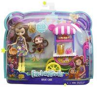 Игровой набор Enchantimals Кукла со зверюшкой и транспортным средством, код FJH11