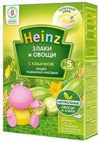 """Heinz Пшенично-рисовая кашка """"Злаки и овощи"""" с кабачком без молока (5m+)"""