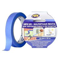 HPX-UV Лента малярная (19mm*25m) УФ-стабильная + 60 С
