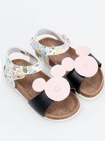 Sandale RESERVED Negru-roz ve263-03x