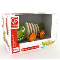Hape Деревянная игрушка каталка Крокодил