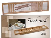Полка-перекладина на ванну 64X15cm, бамбук