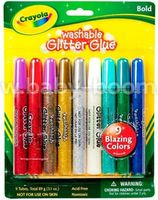 Crayola 69-3527 Клей с блестками  (9 шт.)