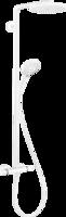 Sistema de  dus hansgrohe Raindance Select S Showerpipe 240 1jet PowderRain cu termostat, Matt White