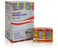 Скрепки OfficeLine 28 мм, 100 шт., круглые, цветные