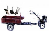 Set motocultivator TECHNOWORKER HB 700RS PRO+Remorca RK500 + plug cartofi + plug simplu + plug reglabil