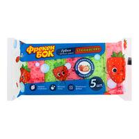 Губки для мытья посуды Фрекен Бок Strawberry, 5 шт.