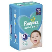Pampers Active Baby 4+ (10-15 кг.) 16 шт.