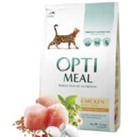 Optimeal  для взрослых кошек - курица ,4кг
