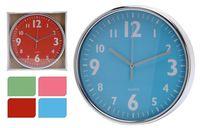 Часы настенные круглые D20cm, H3.6cm, металл