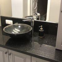 Столешница для ванной комнаты из Гранита Black Galaxy