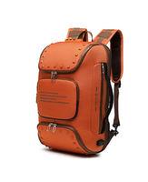 Рюкзак городской c USB для ноутбука 17'', Ozuko 9284, Oранжевый